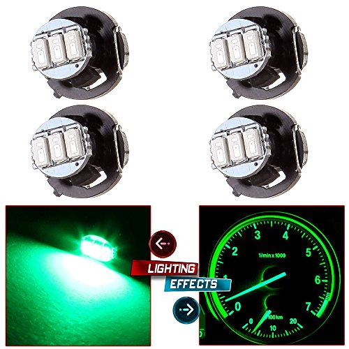 cciyu 4 Pack Green T4/T4.2 Neo Wedge 3-3014SMD A/C Climate Control LED Light ()
