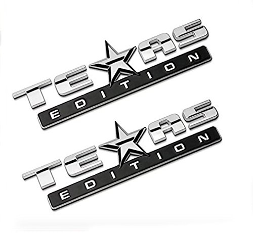 Chromed TEXAS EDITION Chromed Emblem Badge Decal Sticker Back for Chevy Silverado and GMC Sierra Car Styles Accessories 2Pcs (Flaps Chevy 3500 Mud)