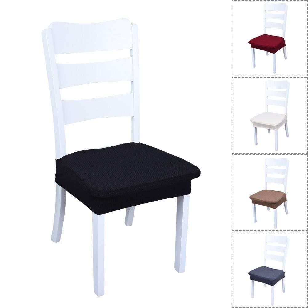 AbuChan Domestici. coprisedia Slipcovers Elasticizzato Rimovibile Lavabile Short Sedia da Pranzo Copertura della Protezione Coffee