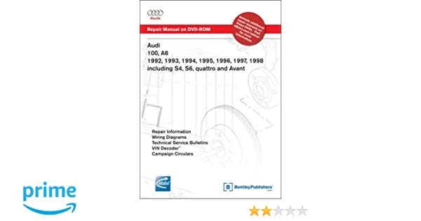 Audi 100 A6 1992 1993 1994 1995 1996 1997 1998 Including S4 S6 Quattro And Avant Repair Manual On Dvdrom Windows 2000xp Of America: 1994 Audi S4 Wiring Diagram At Eklablog.co