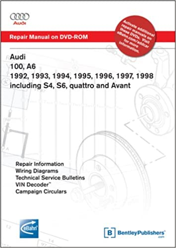 audi 100, a6 1992 to 1998: repair manual on dvd-rom: including s4, s6,  quattro and avant: audi of america: 9780837612546: books - amazon ca