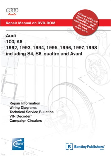 Audi 100, A6 1992, 1993, 1994, 1995, 1996, 1997, 1998 Including S4, S6, quattro and Avant Repair Manual on DVD-ROM (Windows 2000/XP)