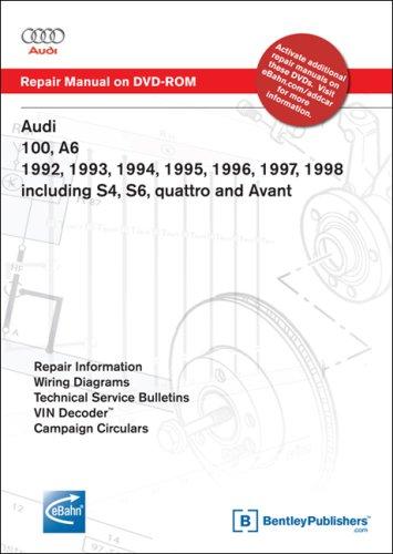 Audi 100 Manual - Audi 100, A6 1992, 1993, 1994, 1995, 1996, 1997, 1998 Including S4, S6, quattro and Avant Repair Manual on DVD-ROM (Windows 2000/XP)