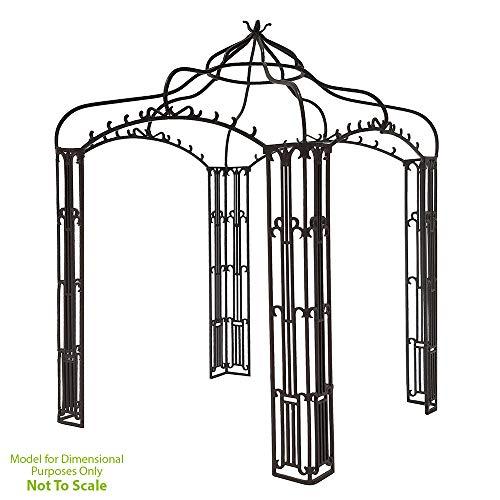 Achla Designs Decorative Wrought Iron Square Allegro Garden Pavilion