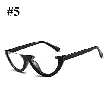 f89d3645d5 Hanbaili Vintage Half Frame Cat Eye Sunglasses Fashion Eyewear for Woman  Sexy Ladies