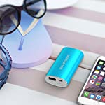 RAVPower 6700mAh Power Bank 31 2X Faster Charger: 2A input can save half of the time to fully charge the 6700mAh portable charger (please use a 2A or higher output charger); 2.4A output makes it charge other devices 2X faster than other chargers. The maximum input and output for the fastest and strongest charging experience. Exclusive iSmart Technology: This battery backup charge faster and smarter than others, automatically detects and delivers the optimal charging current for any connected device- ensuring the fastest and most efficient charge. Compact Body, Amazing Capacity: Fitting in the palm of your hand, up to two charges for iPhone 6, or more than one charge for large phones like 6 Plus, Note 4, etc.