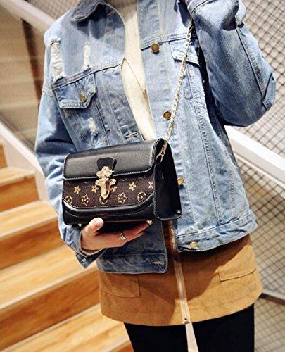 Nuevo De De Cubierta La Versin Hombro De Black Salvaje PU Tipo De Coreana Moda Del Colgante Bolso OpwwP4q