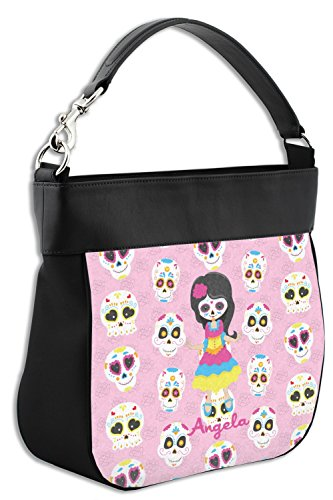 Sugar Kids Leather Hobo Skulls amp; Trim Personalized Back Front Purse w Genuine daUaxO