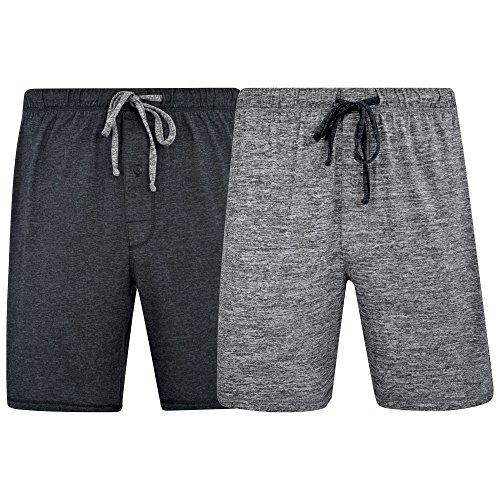 Hanes Men's & Big Men's Brushed Performace Knit Short - 2 Pack, Space Dye Colors - Short Brushed
