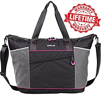 Amazon.com  Gym Tote Bag with Roomy Pockets Best for Women  1 Top  Recommended Rave Reviews  AMOLAR b18f9566e1b9c
