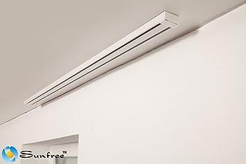 Favorit Alu Schiene 2-Lauf weiß / Flächenvorhang Schiene Alu SF82