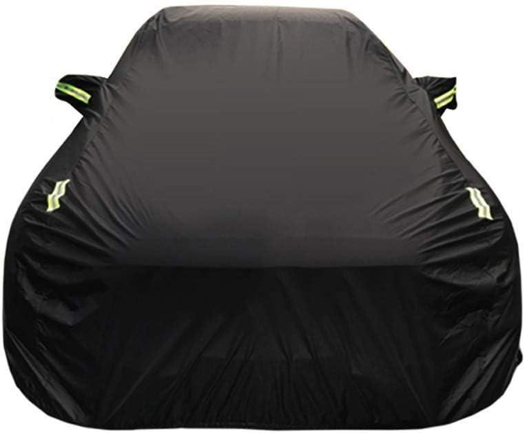 車カバー プジョー206 1.6L CC スペシャルカーカバー カーターポリン 日焼け防止 防雨 傷 オックスフォード布 ベルベット オールシーズン ユニバーサル車カバー Plus velvet ブラック GAOQ0847 ブラック Plus velvet