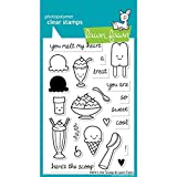 Lawn Fawn Clear Stamps-Here's The Scoop