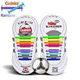 2-coolnicer-no-tie-shoelaces-for-teenagers-outdoor-sports-18pcs-flat-elastic-stretch-waterproof-sili