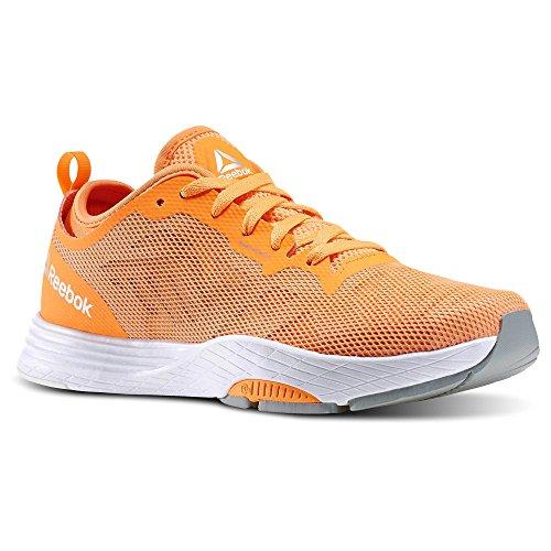 Reebok Femmes Les Mills Cardio Ultra 2.0 Chaussures De Danse Électrique Pêche / Pierre / Blanc / Gris Taille 8