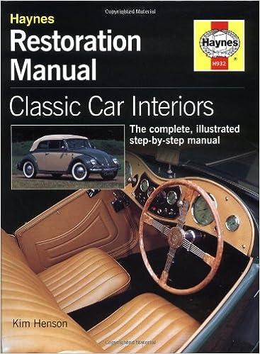 Classic Car Interior Restoration Manual (Haynes Restoration Manuals): K.  Henson: 0699414001873: Amazon.com: Books