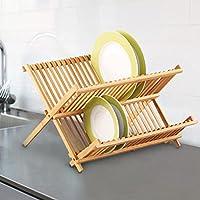 Bambu Abtropfgitter kurutma düzeneği bulaşıklık, bulaşık sepeti, katlanabilir Camping kurutma