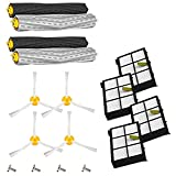 Amyehouse 12pcs Replenishement Kit for iRobot Roomba 800 900 Series 805 860 870 871 880 890 960 980 Vacuum Cleaner Accessories,Replacement Parts with 2 Set Extractor & 4 Filters & 4 Side Brush