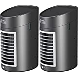 (Set/2) Kool Down Portable Quiet 2-Speed Evaporative Air Cooler With Adapter
