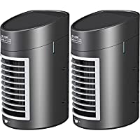 Jobar International (Set/2) Kool Down Portable Quiet 2-Speed Evaporative Air Cooler With Adapter