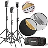 Neewer® TT560 Flash Speedlite Kit for Canon Nikon Panasonic Olympus Fujifilm Pentax Sigma Minolta Leica and Other SLR Digital SLR Film SLR Cameras, includes (3)Neewer TT560 Speedlite Flash + (1)32
