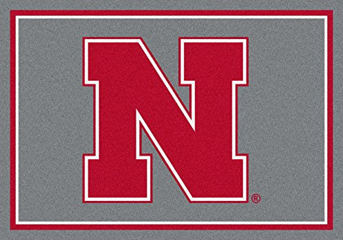 NCAA Team Spirit Rug - Nebraska Cornhuskers, 3'10'' x 5'4'' by Millilken