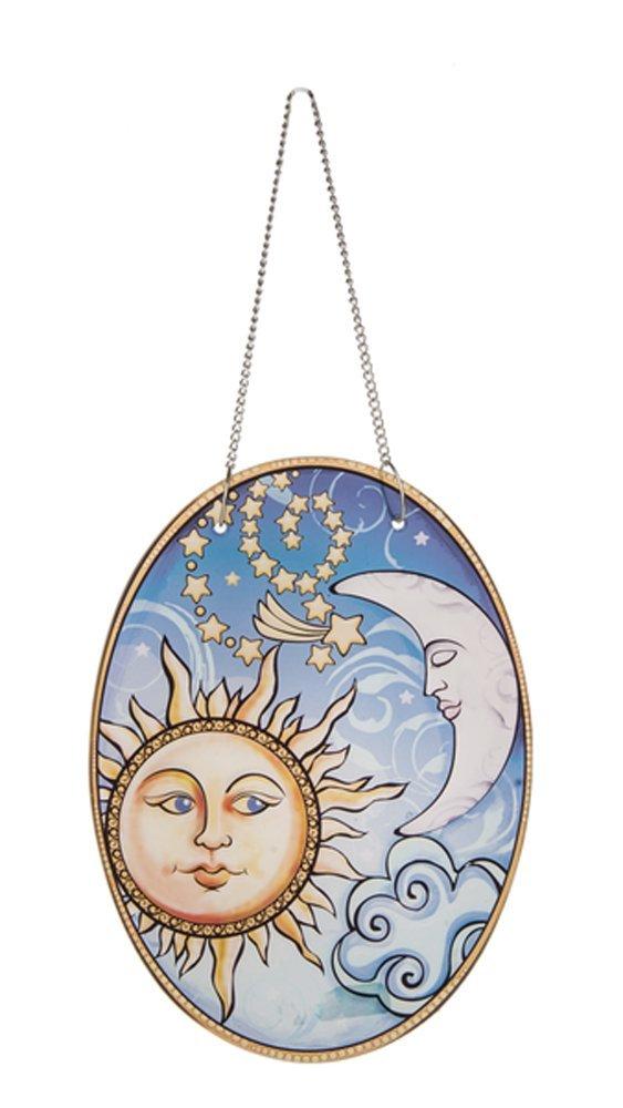 Ganz Home Garden Tiffany Inspired Window Glass Plaque 9'' - Celestial ER47813