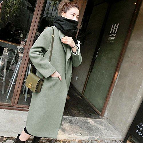 Vestido green KYH Coat Abrigo De De Lana Chaqueta Abrigo De Coat De Lana Sweater OrO8wqxZ