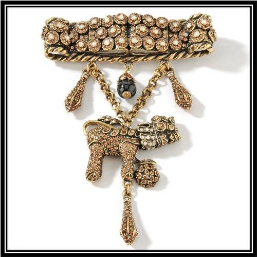 Heidi Daus My Pet Fu Dog Crystal Accented Pin Stunning