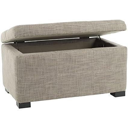 Amazon.com: Safavieh Hudson Collection Williamsburg Grey Linen Storage Bench,  Small: Kitchen U0026 Dining
