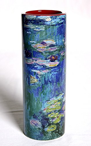 Monet Waterlilies Ceramic Flower Vase 7H VAS05MO Parastone