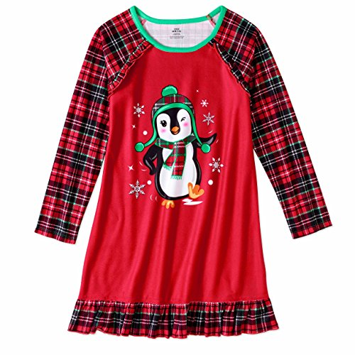 Girls Graphic Pajama Long Sleeve Nightgown featuring