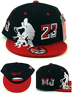 8598c0d9a2aadc Amazon.com   Legend of the Game Chicago New Greatest 23 Youth Kids Jordan  Bulls Black Red MJ Era Snapback Hat Cap 19in to 21in Head Size   Sports    Outdoors