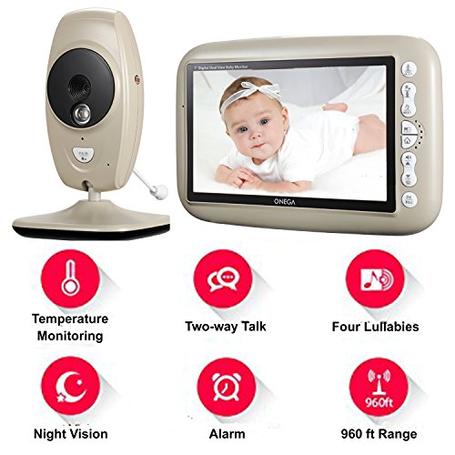 Onega Baby Monitor Wireless Video With 7 0 Quot Large Lcd