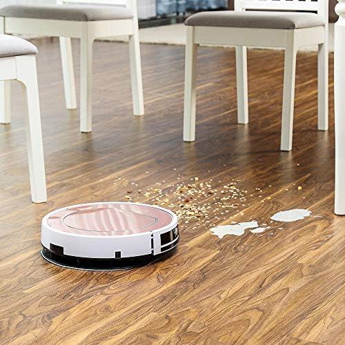 Robot Aspirateur Balayage Et Désinfection De Nettoyage Humide Pour Les Planchers Durs -tapis Exécuter 120mins Charge Automatiquement