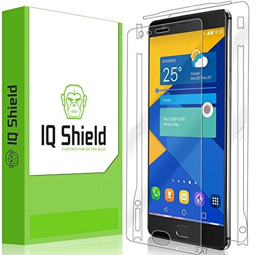 tector, IQ Shield LiQuidSkin Full Body Skin + Full Coverage Screen Protector for One Plus 3 HD Clear Anti-Bubble Film - with (Full Body Shield Protector)