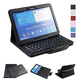 NEWSTYLE Samsung Galaxy Tab 4 10.1 Keyboard Case - Premium Muti-angle Stand Folio Cover Case with Slim Magnetically Detachable Bluetooth Keyboard For 10.1 inch Galaxy Tab 4 SM-T530 SM-T531 SM-T535 (Black)