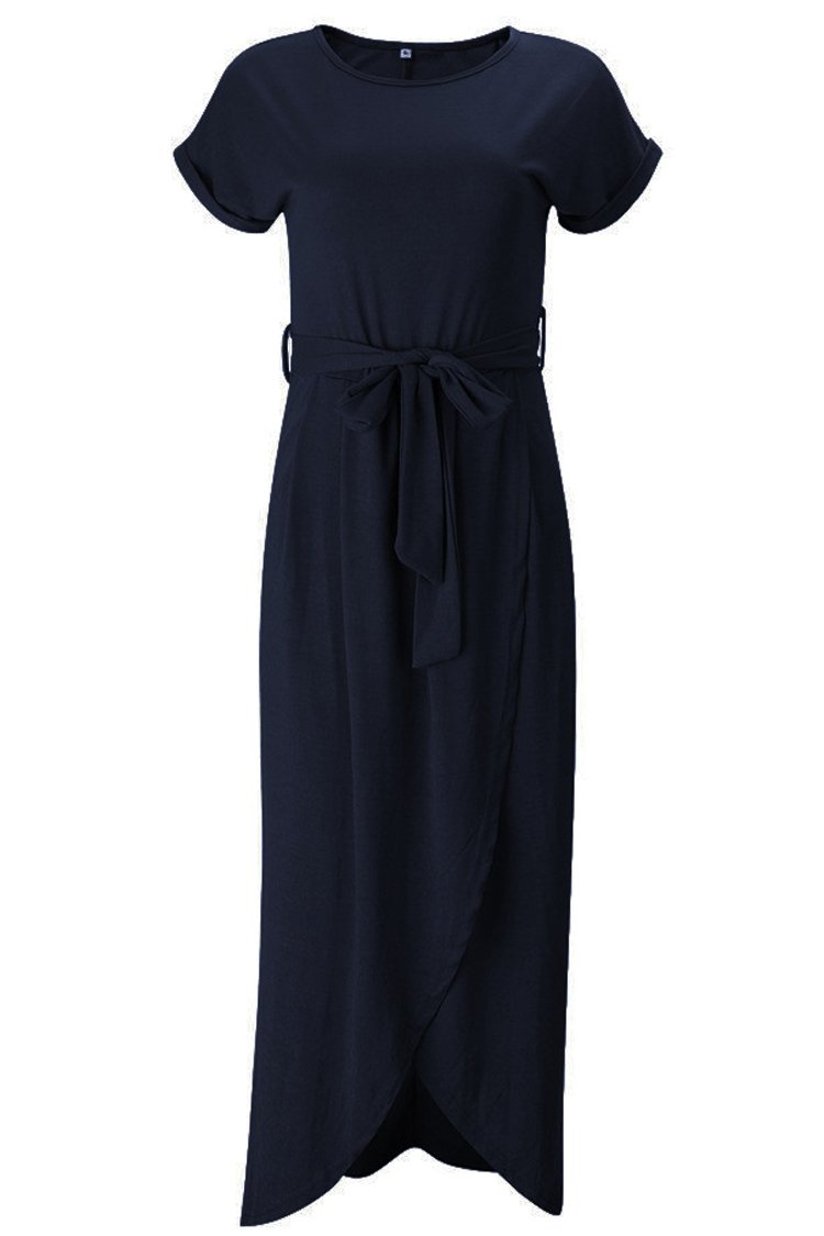 Herose Female Summer Light Weight Quick Errand Vacation Travel Active Wear Dress XL Navy by Herose (Image #2)