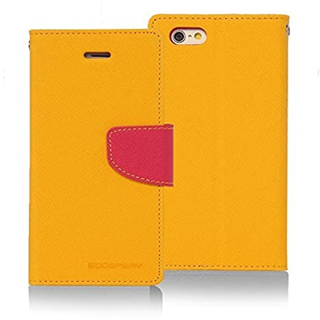 Micomy Mercury Goospery Fancy Diary Wallet Case for Sony Xperia Z1   Yellow Mobile Phone Cases   Covers