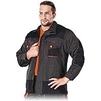 Leber&Hollman LH-FMN-J_SBPXL - Blusa de protección (acero, talla XL), color azul, negro y naranja