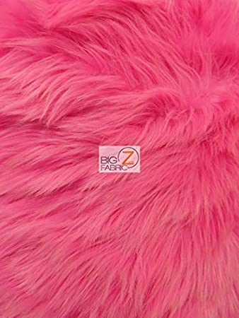 Amber EcoShag Faux Fake Fur Solid Shaggy Long Pile Fabric Sold by The Yard DIY Coats Costumes Scarfs Rugs Accessories Fashion