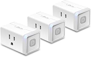 Kasa Smart Plug by TP-Link, Smart Home WiFi Outlet works with Alexa, Echo, Google Home & IFTTT, No Hub Required, Remote Control, 12 Amp, UL Certified, 3-Pack (HS103P3)