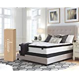 Ashley Furniture Signature Design - 12 Inch Chime Express Hybrid Innerspring Mattress - Bed in a Box - Queen - White