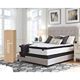 Ashley Furniture Signature Design - 12 Inch Chime Express Hybrid Innerspring Mattress - Bed in a Box - Full - White