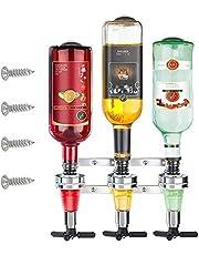 Wandgemonteerde wijndispenser, 3 flessen wijndispenser, aluminium wijndispenser, barman dispenser voor cocktails, barman, gemengde wijn, bar, keuken (30 ml)
