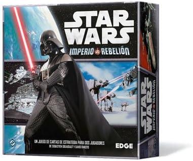 Portada de la caja del juego de mesa star wars imperio rebelion con darth vader