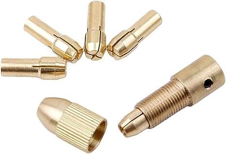 Portabrocas autoajustable en miniatura Mini accesorios para taladro el/éctrico 0.3-3.4mm Portabrocas 3.17mm