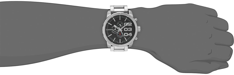 f0237d30b86a Diesel Reloj Diesel DZ4209 Reloj para Hombre Plata Talla unitalla   Amazon.com.mx  Relojes