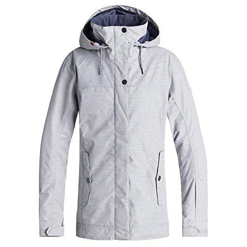 Womens Roxy Ski - Roxy Snow Junior's Billie Snow Jacket, Warm Heather Grey, M