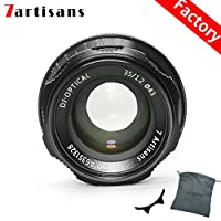 7artisans 35mm F1.2 APS-C Manual Focus Lens Widely Fit for Compact Mirrorless Cameras Fuji X-A1 X-A10 X-A2 X-A3 A-AT X-M1 XM2 X-T1 X-T10 X-T2 X-T20 X-Pro1 X-Pro2 X-E1 X-E2 E-E2s